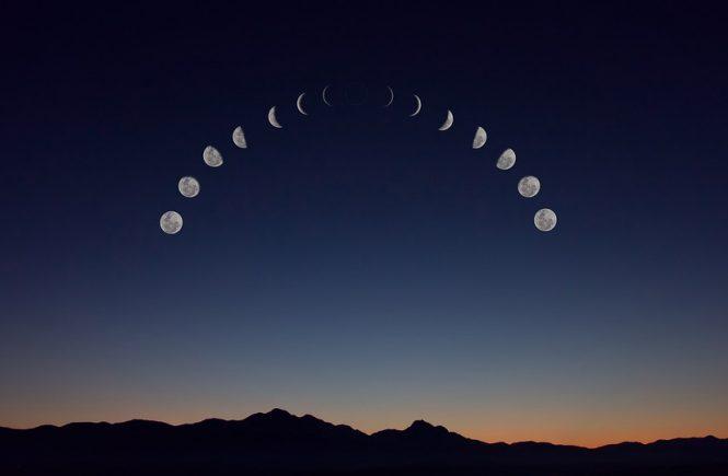 la Luna en los signos del zodíaco
